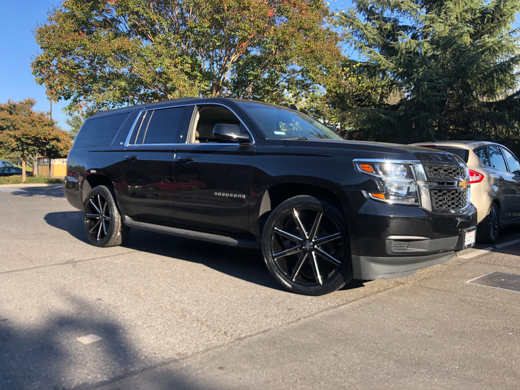 Chevy Suburban W/ Custom 24' Wheels