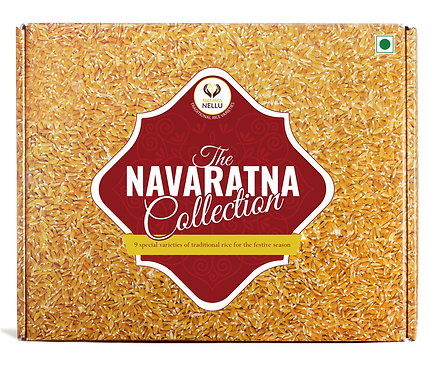 Traditional Rice Gift Box - The Navaratna Collection (Includes 9 Rice Varieties)