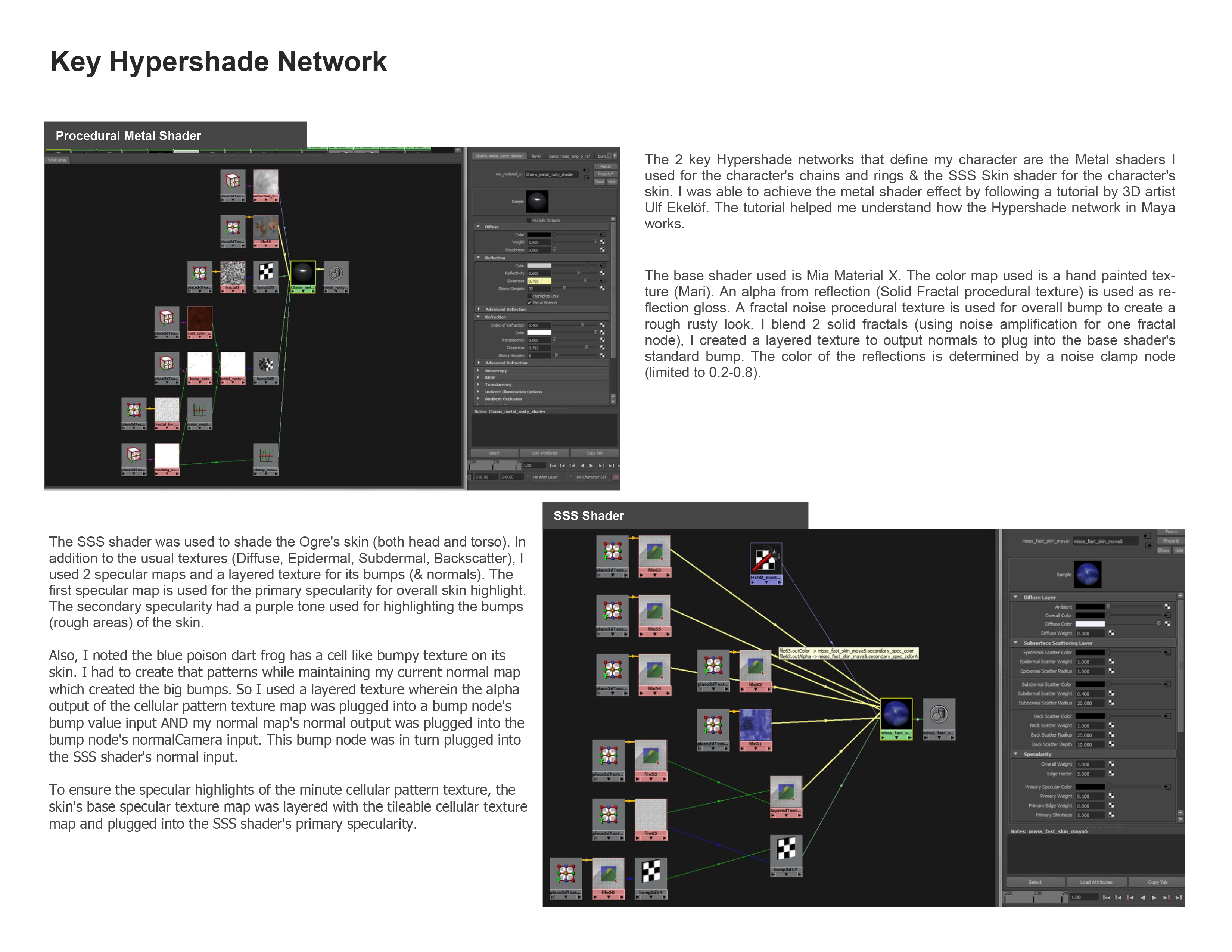 Key Hypershade Network (Maya)