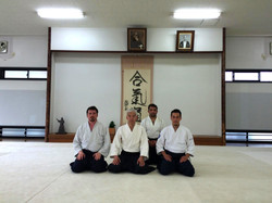 Con Doshu en Hombu Dojo 2015
