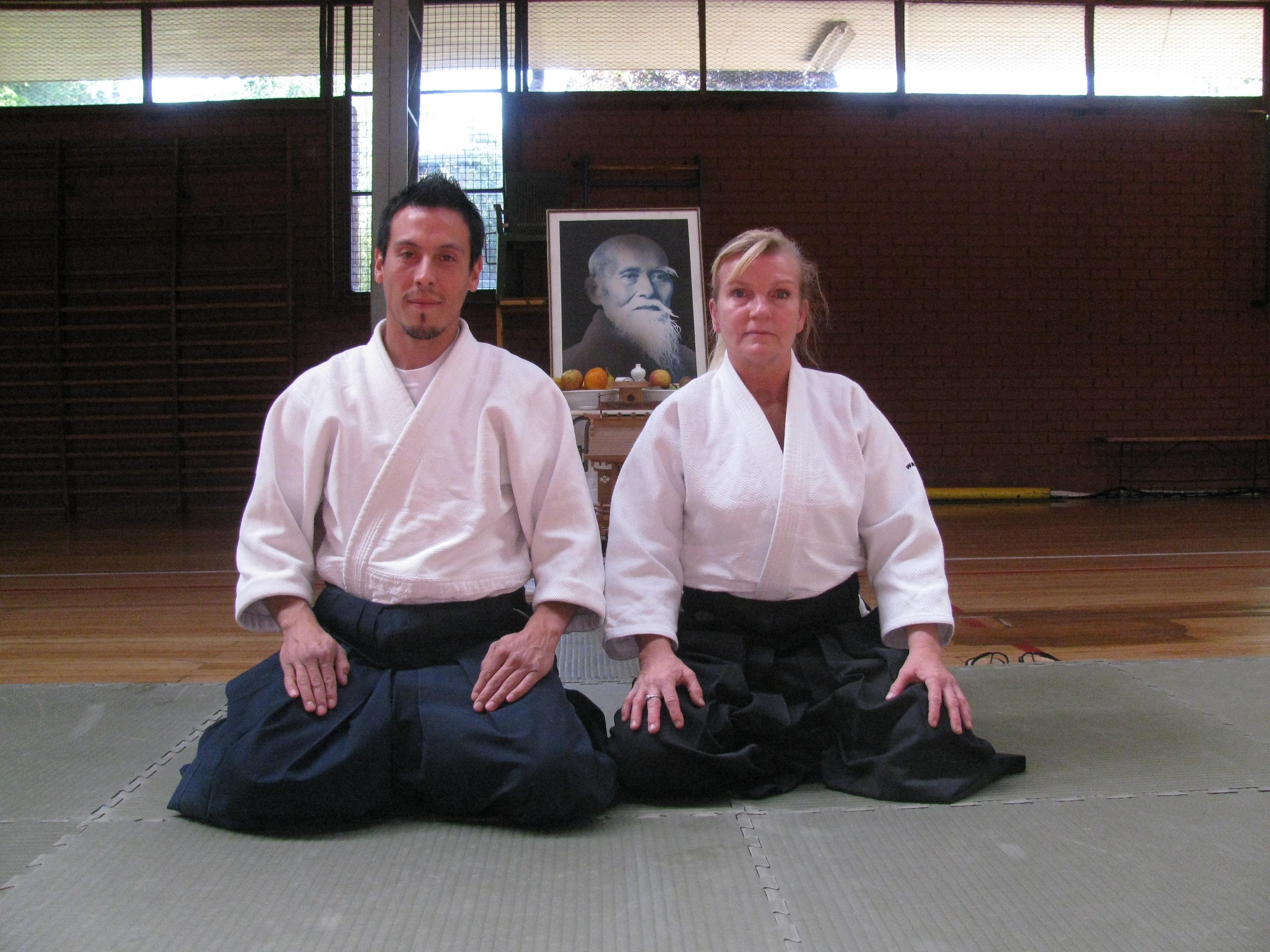 Junto a Patricia Hendricks Sensei