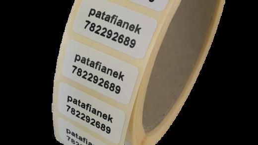 Etykiety termotransferowe z nadrukiem 30*15 mm 1000 szt