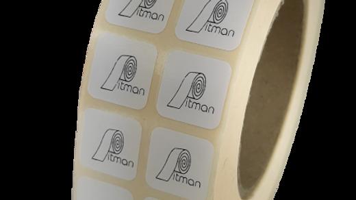 Etykiety termotransferowe z nadrukiem 19*19 mm 1000 szt