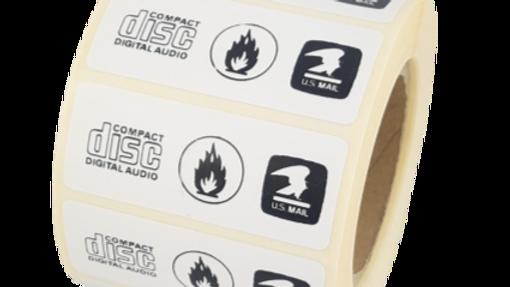 Etykiety termotransferowe z nadrukiem 50*25  mm 1000 szt
