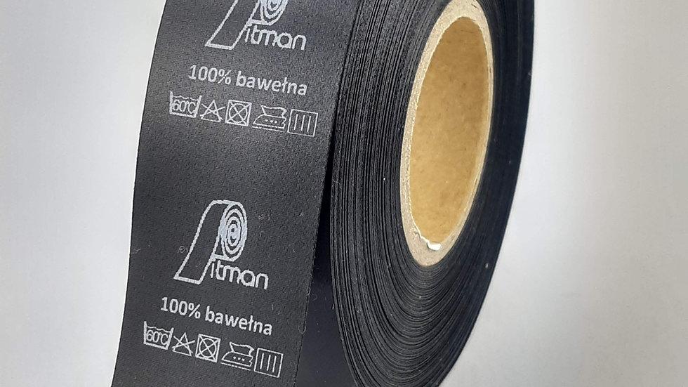 Wszywki satynowe czarne 30 mm