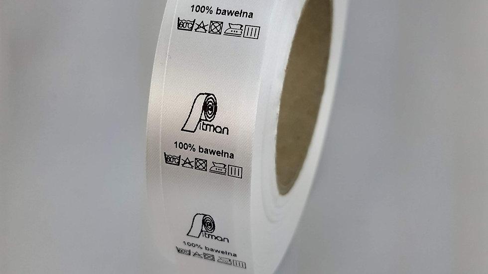 Wszywki satynowe białe 30 mm
