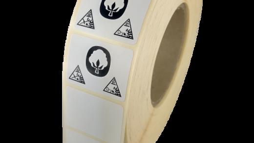 Etykiety termotransferowe z nadrukiem 30*30 mm 1000 szt