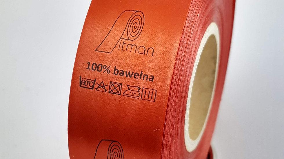 Wszywki satynowe czerwone 30 mm