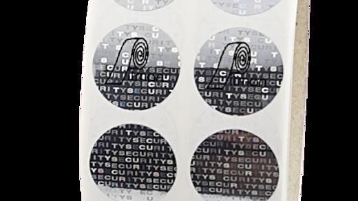 Plomby hologramowe VOID fi 15 mm 500 szt