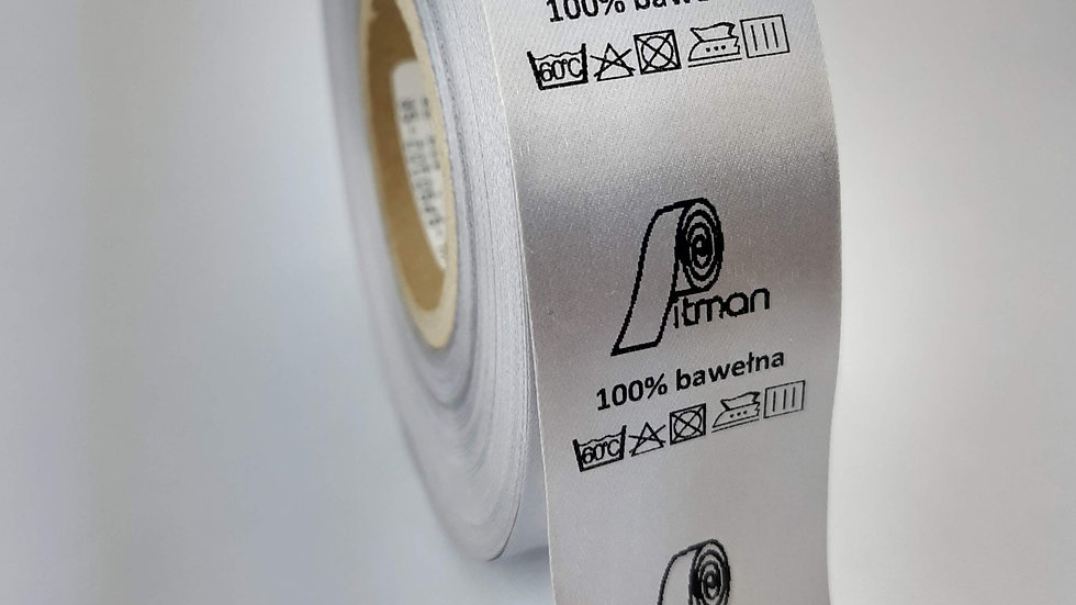 Wszywki satynowe srebrne 30 mm