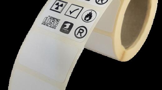 Etykiety termotransferowe z nadrukiem 25*15 mm 1000 szt