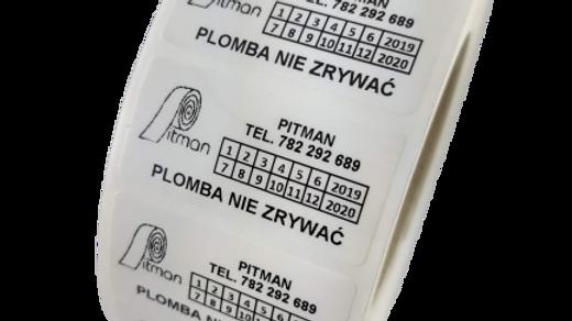 Plomby biały VOID 50*25 mm 500 szt