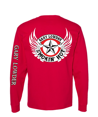 Red long sleeve back tee white wing.png
