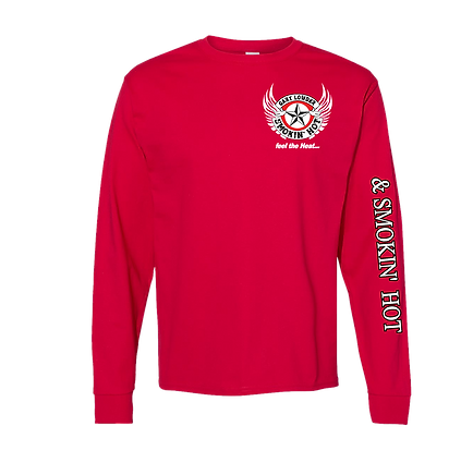 Red long sleeve front white wing tee.png