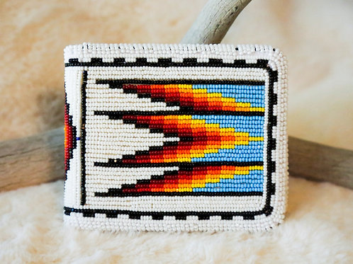 Cut-Glass Beaded Wallet