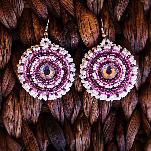 Purple Hope Earring