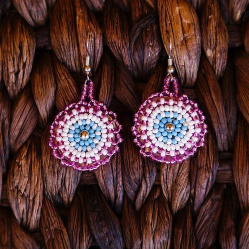 Beaded Starburst Earrings