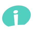 Post Competitive Insight Logo, teal oval shape with a lower case 'i' in the center.