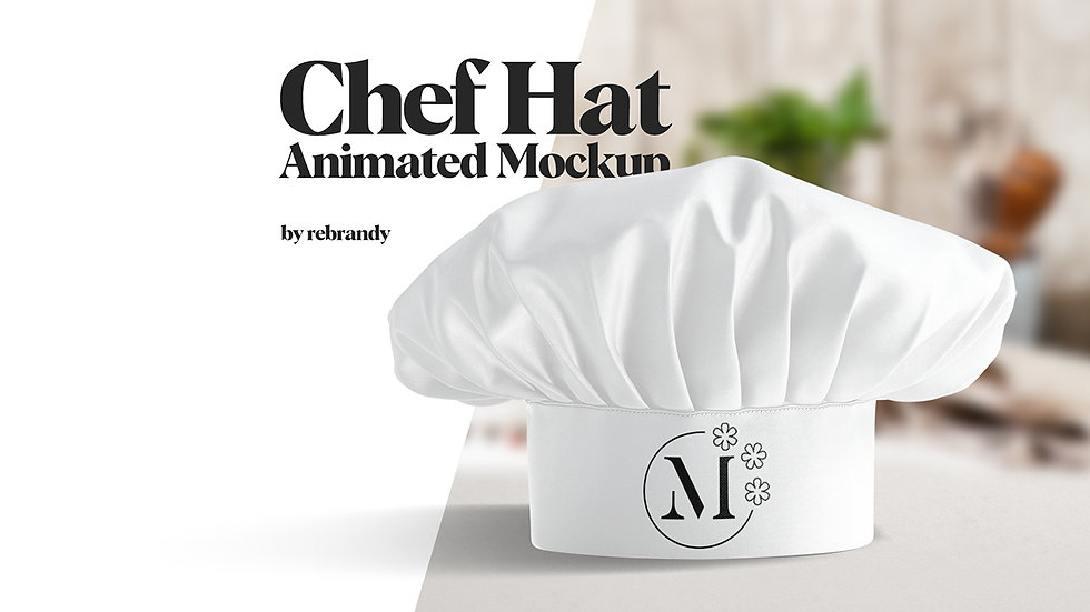 Chef Hat Animated Mockup - Extended