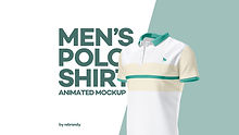 Men's Polo Shirt Animated Mockup