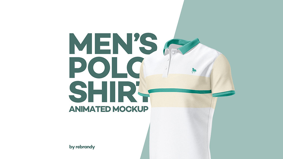 Men's Polo Shirt Animated Mockup - Extended
