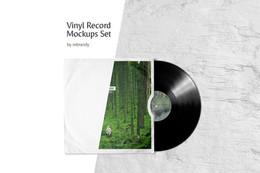 Vinyl Record Mockups Set