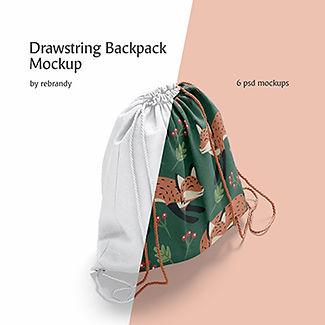 Drawstring Backpack Mockup