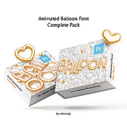 Animated Balloon Font | Complete Pack
