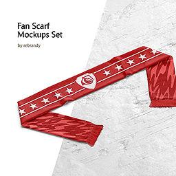 Fan Scarf Mockups Set