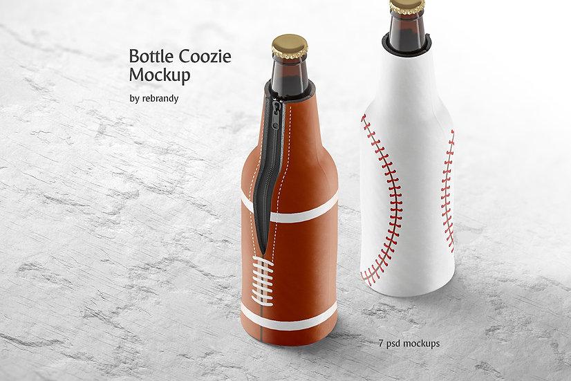 Bottle Coozie Mockup - Extended