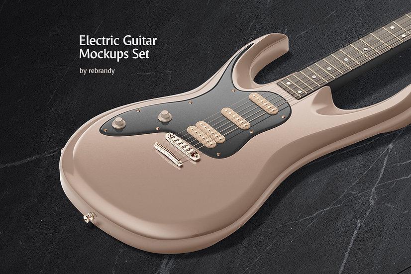 Electric Guitar Mockups Set