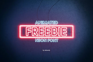 Freebie Animated Neon Font