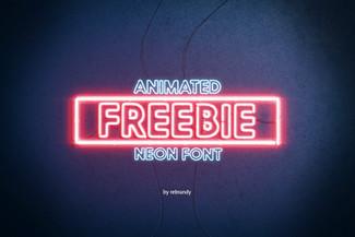 Freebie Animated Neon Font