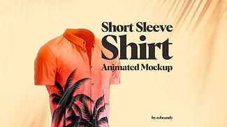 Short Sleeve Shirt Animated Mockup