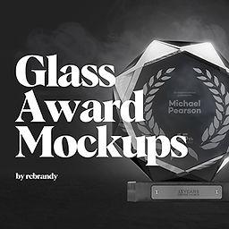 Glass Award Mockups