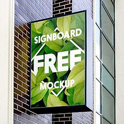 Free Signboard Mockup