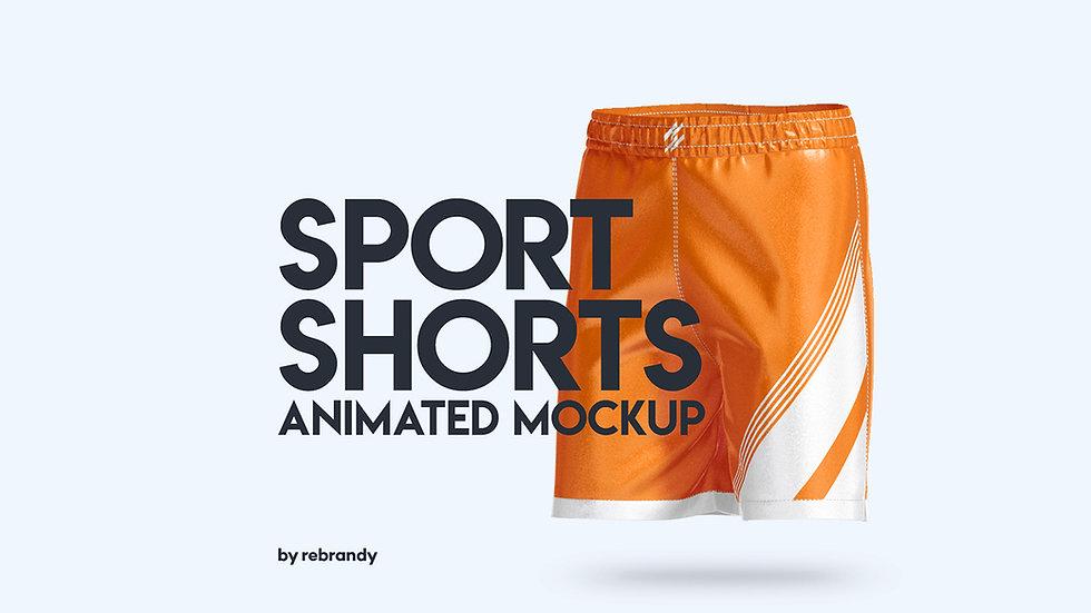 Sport Shorts Animated Mockup - Extended