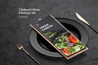 Clipboard Menu Mockups Set