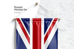Pennant Mockups Set