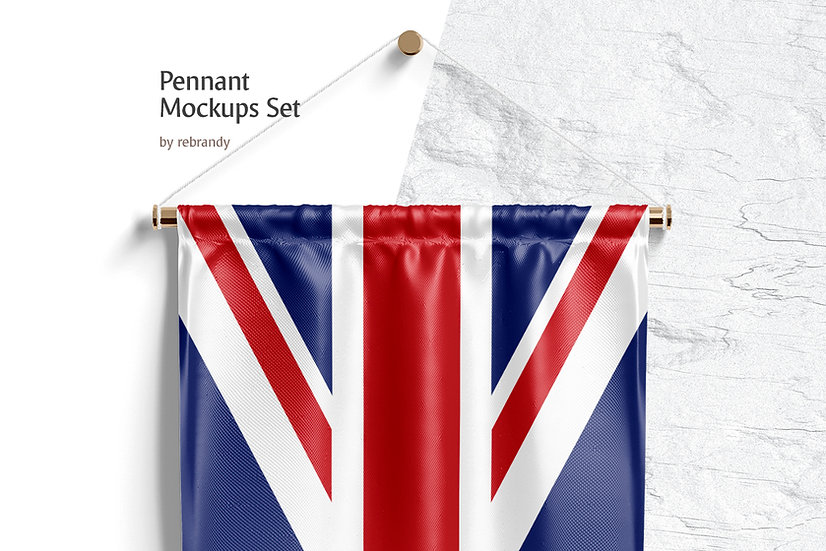 Pennant Mockups Set - Extended