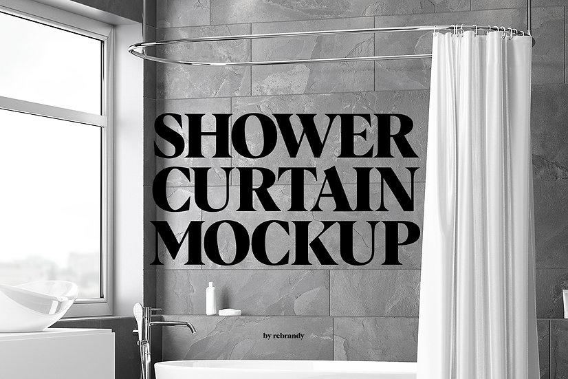Shower Curtain Mockup