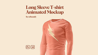 Long Sleeve T-shirt Animated Mockup