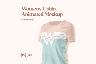 Women's T-shirt Animated Mockup