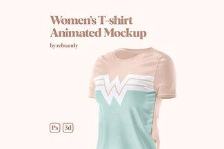 Women's T-shirt Animated Mockup