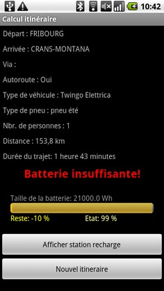 Batterie insuffisante