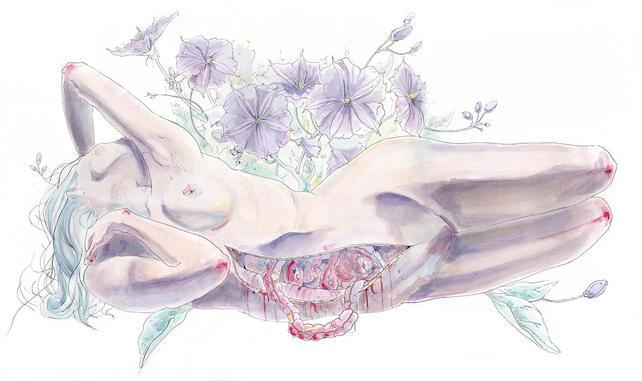 Bating in a Violet Garden