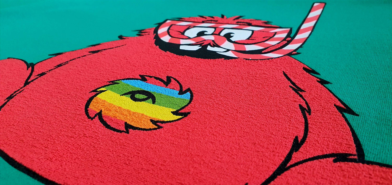 8 Colour Puff Print