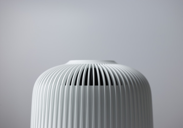 This air purifier has been developed for master bedrooms, bedrooms or other private spaces in the European households. The biggest benefit of using CEPA is situated into the filtration performance itself. This CEPA based product performs approximate +10% higher CADR's and cover +10% larger spaces comparing to the case of using the other typical HEPA based products. Its design was inspired by Birdcage which has a sense of unity between its air inlet and outlet structures as one unique pattern. Furthermore, as a combined unit, our design work to create this was majorly intended to maximize the air flow performance and the cost efficiency of it.