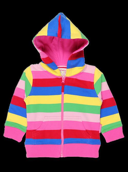 Toby Tiger Pink Striped Hoodie