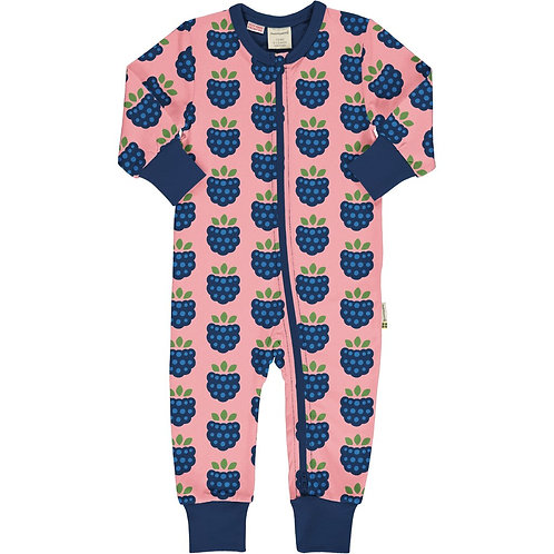 Maxomorra LS Romper Blackberry Print